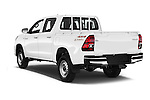 Car pictures of rear three quarter view of 2016 Toyota Hilux GL 4 Door Pickup Angular Rear