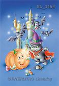 Interlitho, Lorella, REALISTIC ANIMALS, Halloween, paintings, pumpkin, bats, towers(KL3458,#A#)
