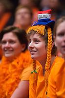 Netherlands, Den Bosch, April 18 2015 Maaspoort, Fedcup Netherlands-Australia,  Dutch fan<br /> Photo: Tennisimages/Henk Koster