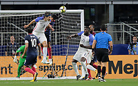 Arlington, TX - Saturday July 22, 2017: Omar Gonzalez during a 2017 Gold Cup Semifinal match between the men's national teams of the United States (USA) and Costa Rica (CRC) at AT&T stadium.