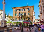 Frankreich, Provence-Alpes-Côte d'Azur, Menton:  place Georges Clémenceau | France, Provence-Alpes-Côte d'Azur, Menton:  place Georges Clémenceau