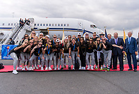 New York, NY - July 8, 2019:  The USWNT travels home after winning the FIFA Women's World Cup.