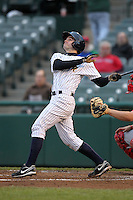 Trenton Thunder designated hitter Addison Maruszak #38 during a game against the Portland Sea Dogs at Waterfront Park on May 4, 2011 in Trenton, New Jersey.  Trenton defeated Portland by the score of 7-1.  Photo By Mike Janes/Four Seam Images