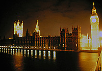 House of Parliament and Clock Tower (Big Ben), 1843-59. Designed by Augustus Pugin and Charles Barry.