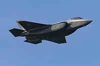 United States Air Force Lockheed Martin F-35 Lightning II fifth generation fighter in flight.
