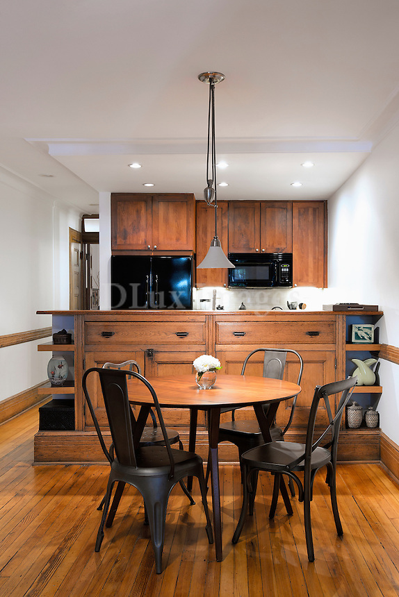Contemporary wooden dining room