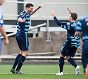 Forfar's Chris Templeman celebrates after he scores their first goal.