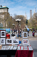 Photos and art on market in Union Square Park