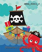Dreams, CHILDREN, KINDER, NIÑOS, paintings+++++,MEDAKID11/4,#K#, EVERYDAY,pirat
