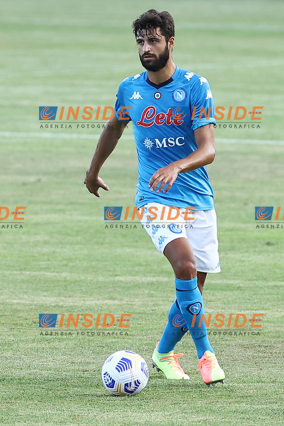 Sebastiano Luperto of SSC Napoli during the friendly football match between SSC Napoli and Castel di Sangro Cep 1953 at stadio Patini in Castel di Sangro, Italy, August 28, 2020. <br /> Photo Cesare Purini / Insidefoto