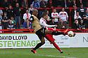 Robin Shroot of Stevenage shoots<br />  - Stevenage v Leyton Orient - Sky Bet League 1 - Lamex Stadium, Stevenage - 17th August, 2013<br />  © Kevin Coleman 2013