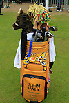 John Daly's bag on the practice range before starting his round on Day 2 of the BMW PGA Championship Championship at, Wentworth Club, Surrey, England, 27th May 2011. (Photo Eoin Clarke/Golffile 2011)
