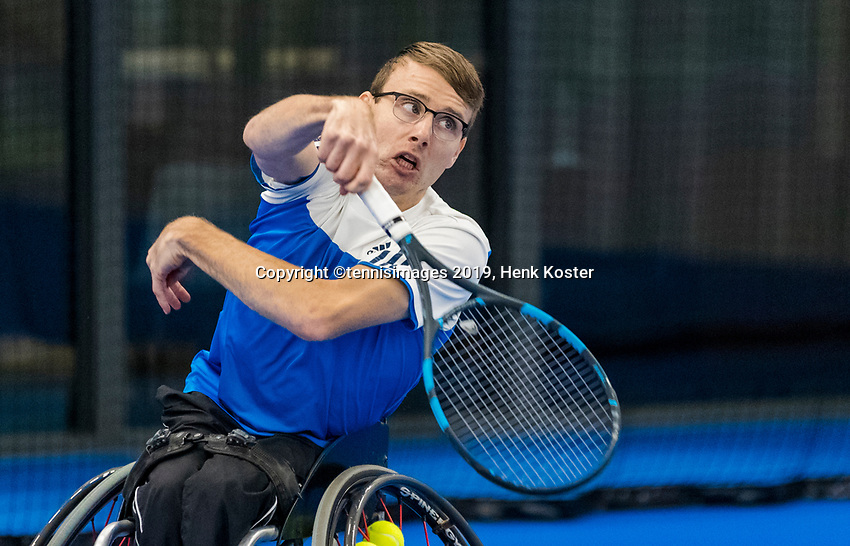 Amstelveen, Netherlands, 8  December, 2020, National Tennis Center, NTC, NKR, National  Junior Indoor Wheelchair Tennis Championships, Men's single:  Marco Eggink (NED(<br /> <br /> Photo: Henk Koster/tennisimages.com