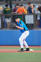 Hudson Valley Renegades first baseman Jacson McGowan (37) during a game against the Tri-City ValleyCats on August 24, 2018 at Dutchess Stadium in Wappingers Falls, New York.  Hudson Valley defeated Tri-City 4-0.  (Mike Janes/Four Seam Images)
