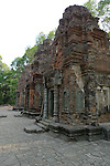Angkorian temple Preah Ko at Roluos (late 9th century) 880.<br /> Preah Ko temple was built in the reign of Indravarma I. It was the first monument built at the site of Hariharalaya, the ancient capital city of the Khmers. Preah Ko temple was dedicated to the worship of Shiva.