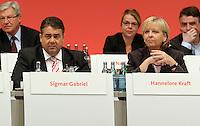 SPD Bundesparteitag im Congress Center Leipzig (CCL) an der Neuen Messe in Leipzig vom 14.11.-16.11.2013 - im Bild: Sigmar Gabriel (l.) und Hannelore Kraft (r.).  Foto: Norman Rembarz