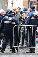 FrÈdÈric Mitterrand - Obseques de Michele Morgan - Service religieux en l'Èglise Saint-Pierre de Neuilly-sur-Seine le 23 decembre 2016