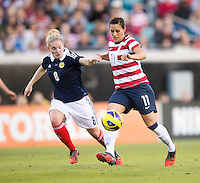 Ali Krieger, Kim Little.  The USWNT defeated Scotland, 4-1, during a friendly at EverBank Field in Jacksonville, Florida.