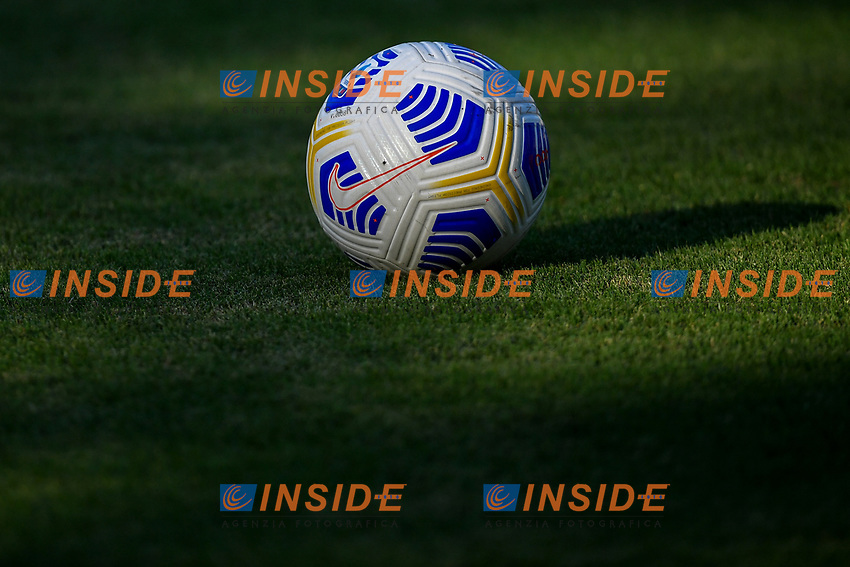 Serie A official nike ball named flights is seen on the picthc prior to the friendly football match between Frosinone calcio and AS Roma at Benito Stirpe stadium in Frosinone (Italy), September 9th, 2020. AS Roma won 4-1 over Frosinone Calcio. Photo Andrea Staccioli / Insidefoto