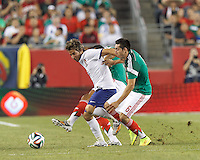 Foxborough, Massachusetts - June 6, 2014: In an international friendly, Portugal (white/blue) defeated Mexico (green/white), 1-0, at Gillette Stadium.