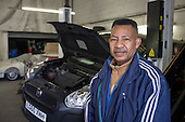 Cuthbert Thomas at Transauto Garage, one of nine car repair workshops in Camley Street, Camden, which will be cleared to make way for a construction compound under current plans for the HS2 high speed rail link.