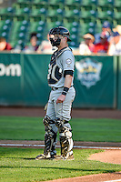 Brian Serven (20) of the Grand Junction Rockies during the game against the Ogden Raptors in Pioneer League action at Lindquist Field on August 24, 2016 in Ogden, Utah. The Raptors defeated the Rockies 11-10. (Stephen Smith/Four Seam Images)