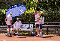 Hilversum, The Netherlands,  August 21, 2020,  Tulip Tennis Center, NKS, National Senior Tennis Championships, Men's doubles 80+, <br /> Photo: Tennisimages/Henk Koster