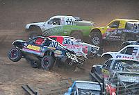 Dec. 11, 2011; Chandler, AZ, USA;  LOORRS pro 2 driver Greg Adler during the Lucas Oil Challenge Cup at Firebird International Raceway. Mandatory Credit: Mark J. Rebilas-
