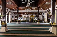 Tranquerah Mosque, Masjid Tranquerah, Prayer Hall, Melaka, Malaysia.