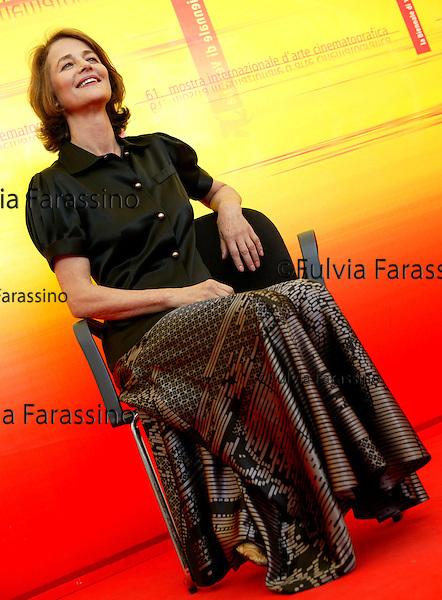 """Festival di Venezia 2004<br /> Charlotte Rampling<br /> film: """"Le Chiavi di Casa"""" regia Gianni Amelio"""
