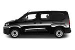 Car driver side profile view of a 2020 Peugeot Partner Premium Long 4 Door Car van