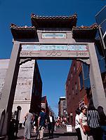 Montreal (Qc) CANADA - 1999 File Photo -<br /> Chinatown