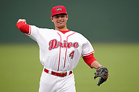 Second baseman Nick Yorke (4) of the Greenville Drive before a game against the Asheville Tourists on Tuesday, August 31, 2021, at Fluor Field at the West End in Greenville, South Carolina. (Tom Priddy/Four Seam Images)