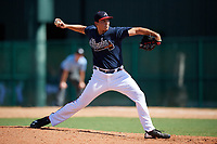 Atlanta Braves pitcher Brandon White (38) delivers a pitch during an Instructional League game against the Detroit Tigers on October 10, 2017 at the ESPN Wide World of Sports Complex in Orlando, Florida.  (Mike Janes/Four Seam Images)