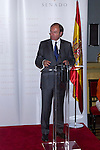 16.07.2012. Prince Felipe of Spain and Princess Letizia of Spain attends the Giving of the 8 th Edition of ´Luis Carandell´ Parliamentary Journalism in the Senate Building. In the image President of the Senate Pio Garcia Escudero (Alterphotos/Marta Gonzalez)