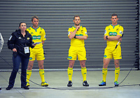 Match officials wait to run out for the Super Rugby match between the Hurricanes and Highlanders at Westpac Stadium in Wellington, New Zealand on Saturday, 4 March 2017. Photo: Dave Lintott / lintottphoto.co.nz