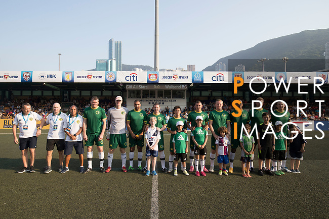 Citi All Stars (in white) vs Wallsend Boys Club (in green) during their Masters Tournament Cup Final match, part of the HKFC Citi Soccer Sevens 2017 on 28 May 2017 at the Hong Kong Football Club, Hong Kong, China. Photo by Chris Wong / Power Sport Images