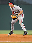 Infielder Riaan Spanjer-Furstehnburg (43) of the Rome Braves, Class A affiliate of the Atlanta Braves, in a game against the Greenville Drive April 12, 2010, at Fluor Field at the West End in Greenville, S.C. Spanjer-Furstehnburg is one of Atlanta's top prospects. Photo by: Tom Priddy/Four Seam Images