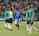 22.08.2019 Legia Warsaw v Rangers: Alfredo Morelos booked