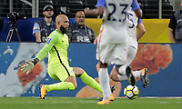Arlington, TX - Saturday July 22, 2017: Tim Howard during a 2017 Gold Cup Semifinal match between the men's national teams of the United States (USA) and Costa Rica (CRC) at AT&T stadium.