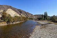 Shu-Fluss, Kirgistan, Asien<br /> Shu river, Kirgistan, Asia