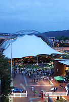 The downtown Pavilion music venue located on the downtown mall in Charlottesville, Va. Credit Image: © Andrew Shurtleff