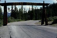 Alberta, CANADA, 1974 File Photo - Banff Park, great divide