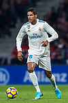 Raphael Varane of Real Madrid in action during the La Liga 2017-18 match between Atletico de Madrid and Real Madrid at Wanda Metropolitano  on November 18 2017 in Madrid, Spain. Photo by Diego Gonzalez / Power Sport Images