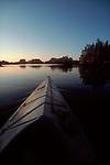 Sea kayaking; British Columbia coast at sunrise; Johnstone Strait; Vancouver Island; British Columbia; Canada, North America; Inside Passage to Alaska; .