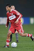Chicago Fire defender William  Conde (22)   Chicago Fire tied  DC United 1-1 at  RFK Stadium, Saturday March 28, 2009.