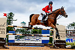 October 17, 2021: Lauren Nicholson (USA), aboard Vermiculus, competes during the Stadium Jumping Final at the 5* level during the Maryland Five-Star at the Fair Hill Special Event Zone in Fair Hill, Maryland on October 17, 2021. Jon Durr/Eclipse Sportswire/CSM