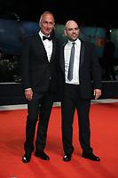 "VENICE, ITALY - SEPTEMBER 05: Stefano Sollima and Roberto Saviano walk the red carpet of the ""ZeroZeroZero"" screening during the 76th Venice Film Festival at Sala Grande on September 05, 2019 in Venice, Italy. (Photo by Mark Cape/Insidefoto)<br /> Venezia 05/09/2019"