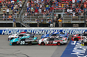 NASCAR XFINITY Series<br /> Irish Hills 250<br /> Michigan International Speedway, Brooklyn, MI USA<br /> Saturday 17 June 2017<br /> Denny Hamlin, Hisense Toyota Camry William Byron, Liberty University Chevrolet Camaro Brad Keselowski, Discount Tire Ford Mustang<br /> World Copyright: Matthew T. Thacker<br /> LAT Images