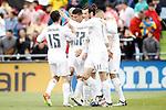 Real Madrid's players celebrate goal during La Liga match. April 16,2016. (ALTERPHOTOS/Acero)